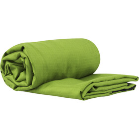 Sea to Summit Silk Stretch Liner Momia con Capucha & Caja para Pies, green